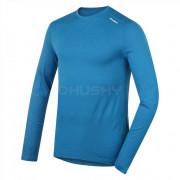 Tricou bărbați funcțional Husky Merino (mânecă lungă albastru)