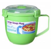 Hrnek Sistema Microwave Large Soup Mug Color verde