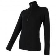 Tricou funcțional femei Sensor Merino Extreme fermoar negru