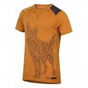 Tricou funcțional bărbați Husky Merino 100 Dog (mânecă scurtă) maro