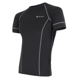 Tricou funcțional bărbați Sensor Coolmax fresh negru černá